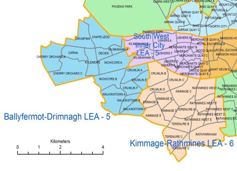 Dublin South Central Council Wards 2016